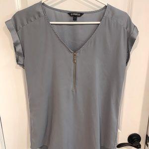 Slate Gray Zip Top